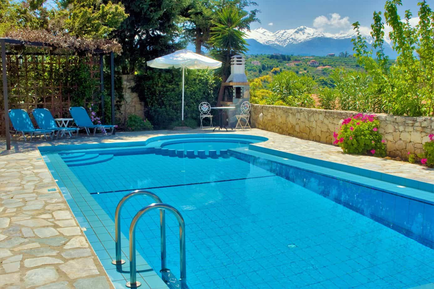 Large pool with lovely views