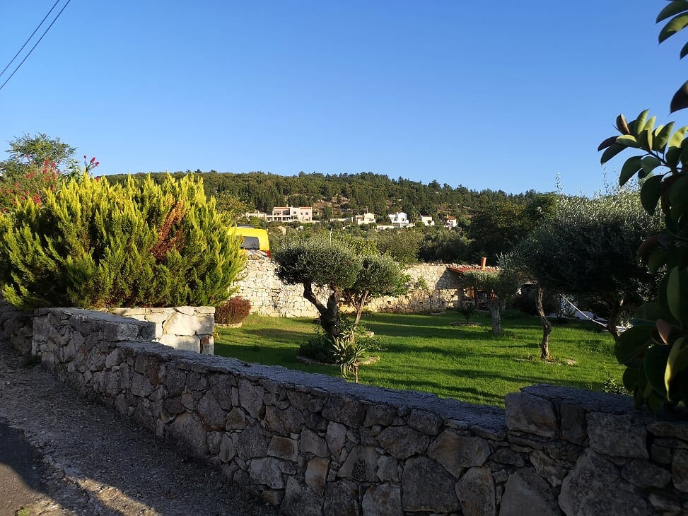 Villa Koumos viewed from the village.